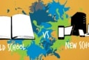 old school vs new school graphic