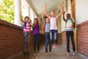 hallway kids school happy