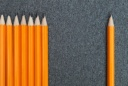 pencils_one_apart_from_group_individual